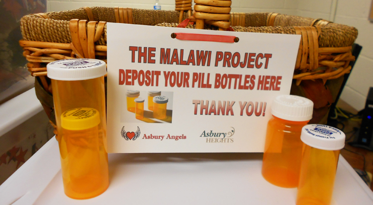 Collected Pill Bottles for Malawi Project
